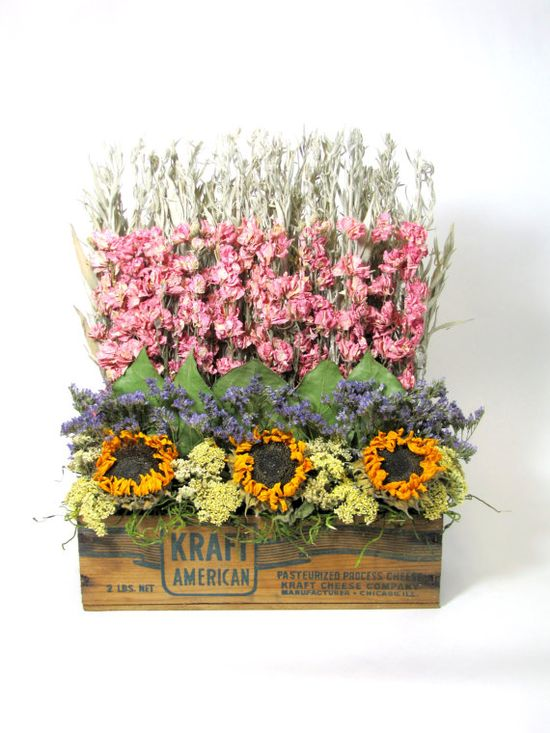 pictures of dried flower arrangements