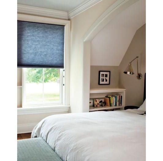 Bedroom window treatment idea