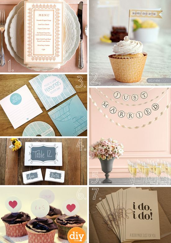 20 Free Wedding Printables You'll Love « Diy Projects « Bow Ties & Bliss