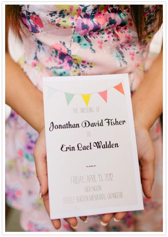 fun flag wedding invitations by minted