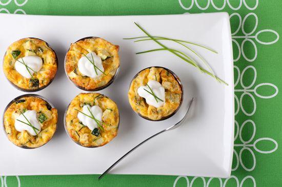 Savory cupcake recipes -- make ahead and freeze, portion control... great idea!