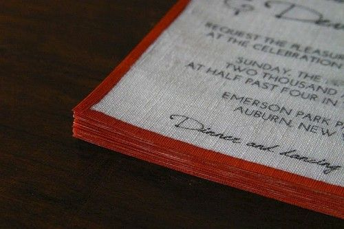 You can make your own linen invitations