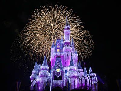 Disneyland holiday decor.