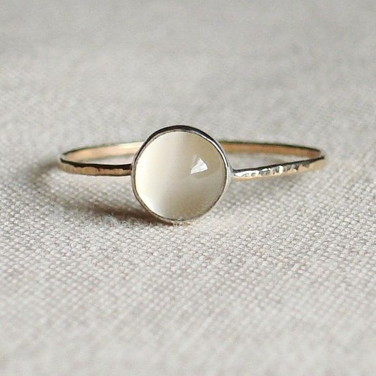 Gorgeous little rings in all colors, very reasonably priced! Ball on a Golden Thread  Simple Sweet by MARYJOHN, $23.00