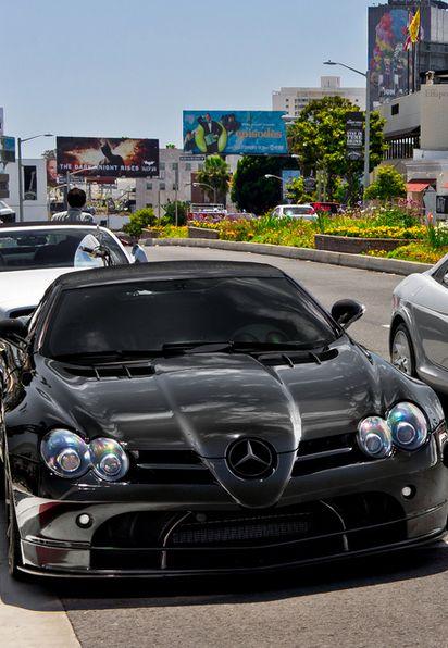 Cool Black Mercedes SLR