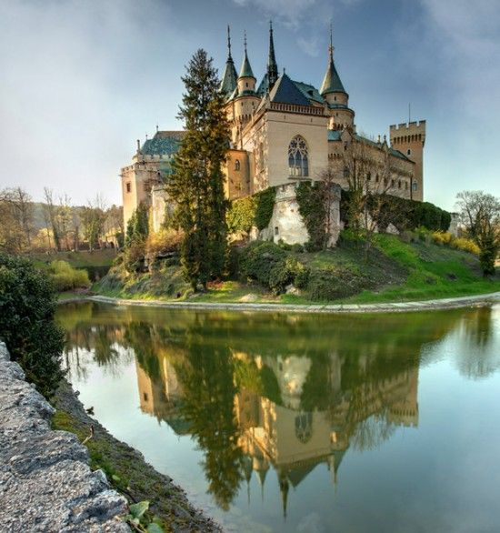 Bojnice Castle, Bojnice, Slovakia.    Bojnice Castle was first mentioned in written records in 1113, in a document held at the Zobor Abbey.
