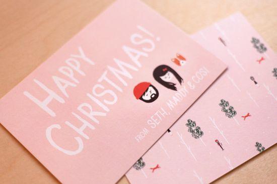 Custom Christmas Card - Christmas Portrait Card. $50.00, via Etsy.