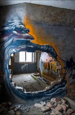 3d street painting
