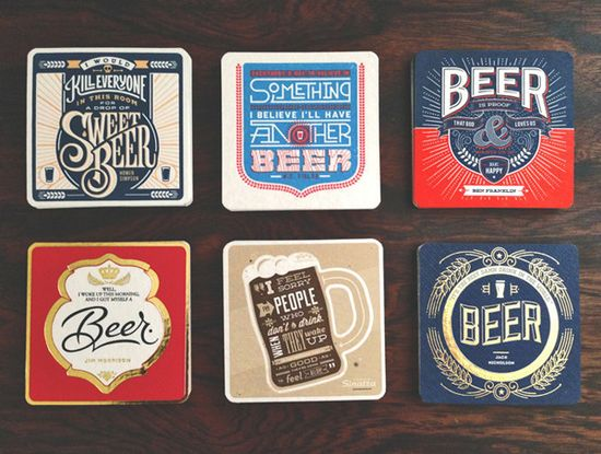 Letterpressed Beer Coasters Feature Famous Quotes From Musicians, Actors :: Culture :: News :: Paste