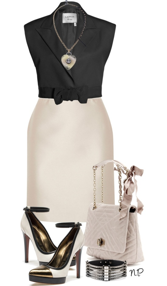 """Lanvin"" by nuria-pellisa-salvado ❤ liked on Polyvore"