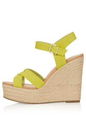 TOPSHOP WHISPERED Cross Over Wedges