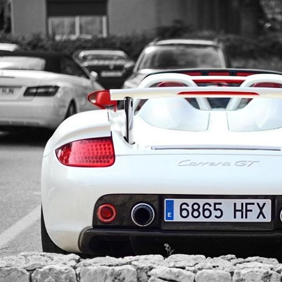 Beautiful White Porsche Carrera GT