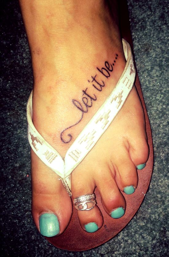 Foot tattoo I like the placement...maybe a dove with the word 'faith'