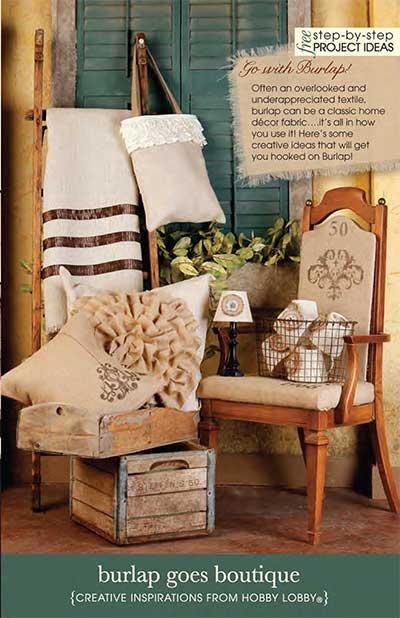 Burlap crafts! Hobby Lobby