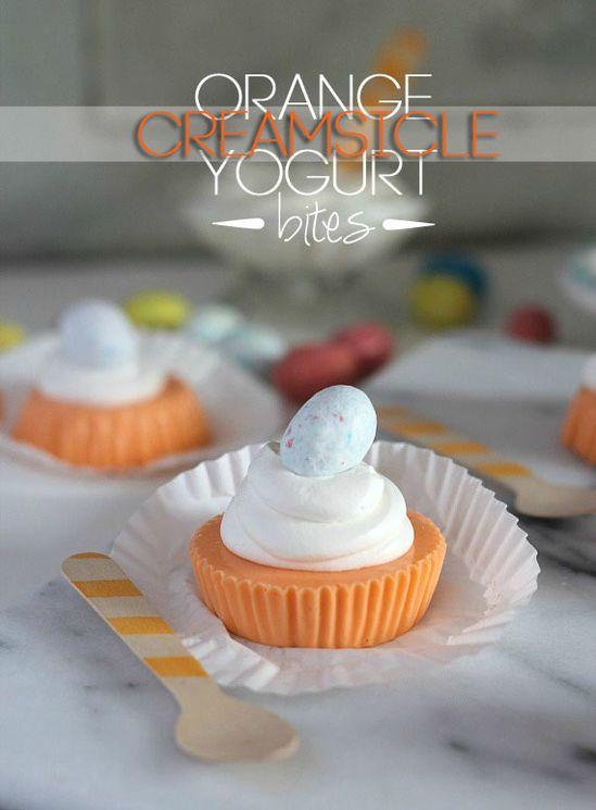Orange Creamsicle Yogurt Bites