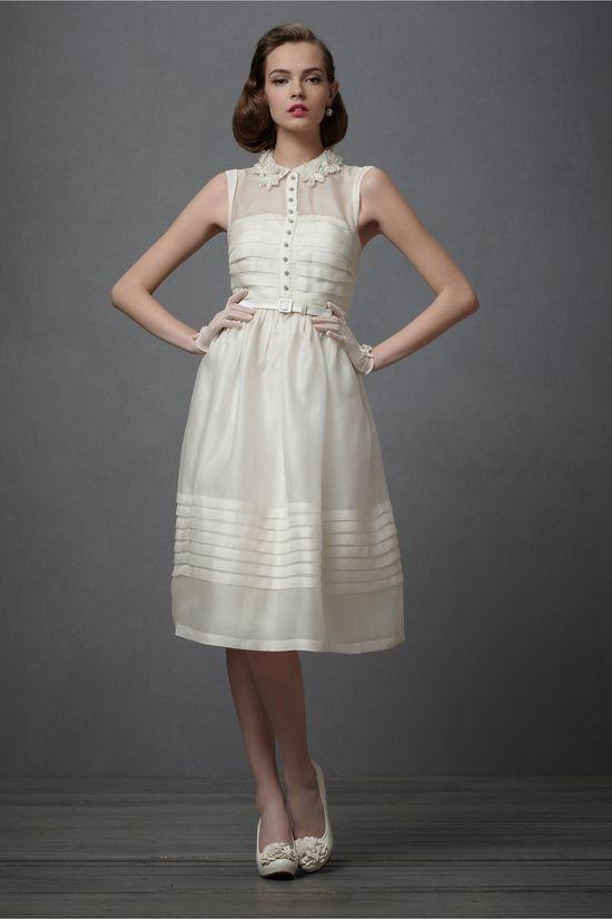 Silk organza dress / BHLDN #retro #vintage #1950s #wedding
