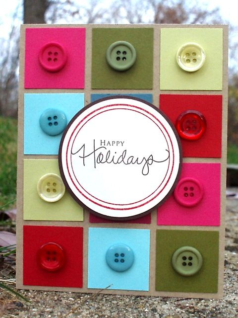 Holiday card with buttons