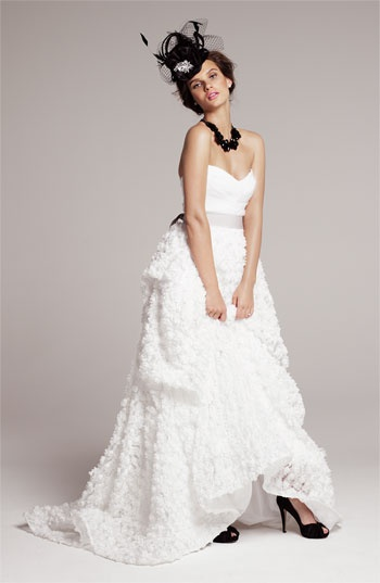 Quirky Bride Look #2: Christian Siriano gown #Nordstromweddings