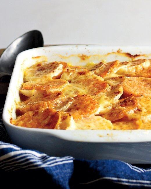 Turnip and Sweet Potato Gratin Recipe