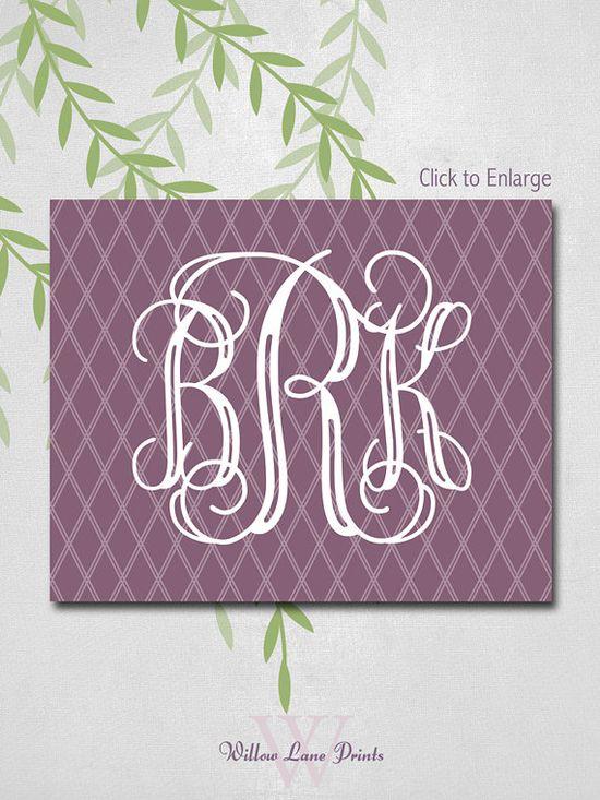Wedding Reception Decor Personalized Monogram canvas