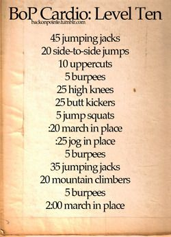 cardio workout at home