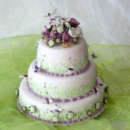 Wedding cake Scabiosa flowers