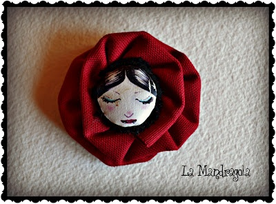 #brooch #handmade #fabric #flower