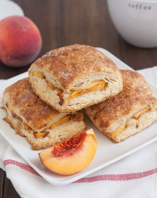 Peach Cobbler Scones by Tracey's Culinary Adventures