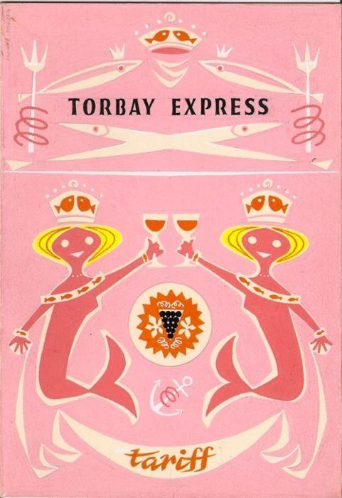 Vintage Torbay Express menu.