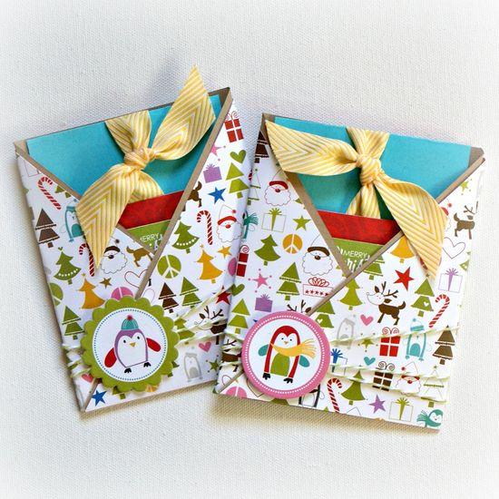 Christmas Gift Card holders - Scrapbook.com