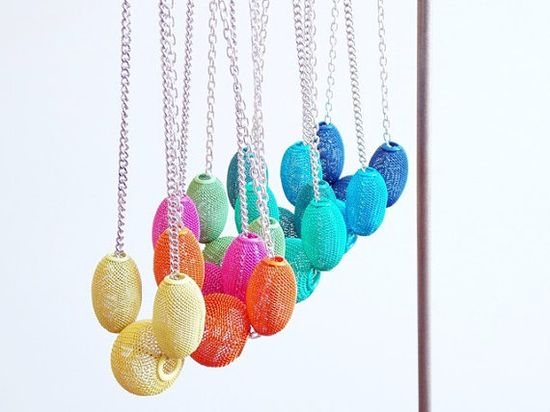 50 off  Choker  Bright Wire Mesh Globe Necklace by JustColor, $20.00
