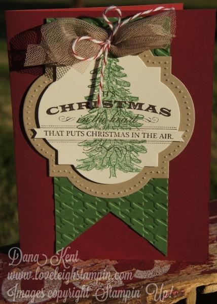 Christmas Tag Card  Christmas Card Stampin Up