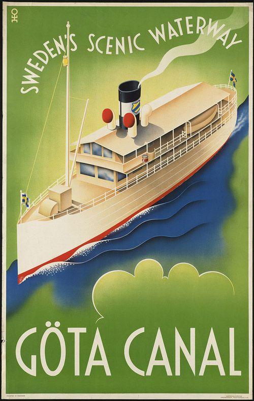 Sweden #vintage #tourism #travel #poster