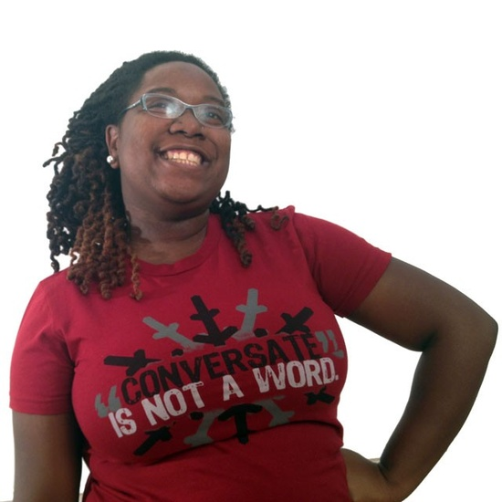Tee: Conversate Is Not A Word Oyin Handmade $26