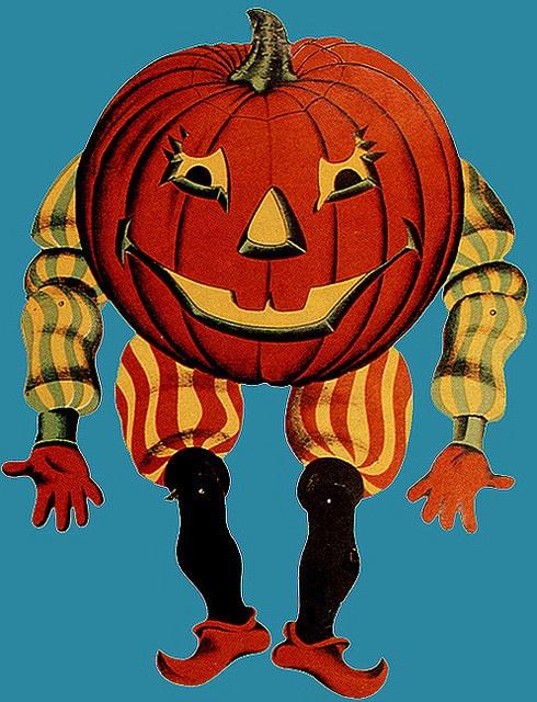 Vintage Diecut Halloween decoration.