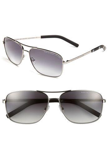 Aviator sunglasses via Marc by Marc Jacobs