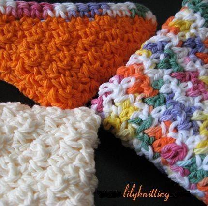 Pattern Super Easy crochet washcloth
