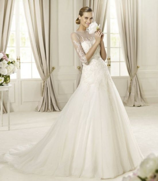 Romantic Wedding Dresses From Pronovias Glamour Collection 2013