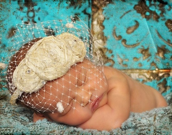 adorable!!!!  Baby cuteness headband and netting, very unique!