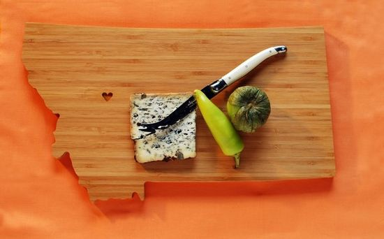 State shaped cutting boards.