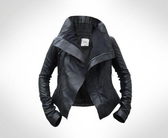 Womens Black Leather Biker Jacket by J.O.D UK8. €215,00, via Etsy.