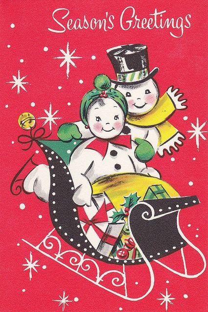 Season's Greetings Snow Couple by hmdavid, via Flickr