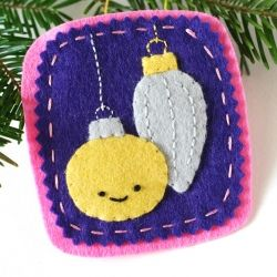 Make an ornament with ornaments!