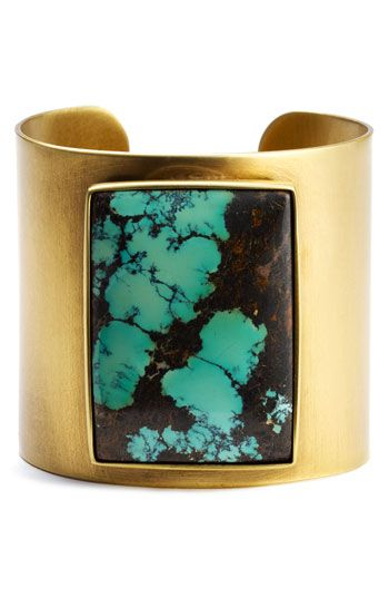 Kelly Wearstler Brass Turquoise Cuff.