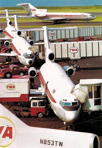 TWA Boeing 727-100's at LaGuardia Airport, 1969
