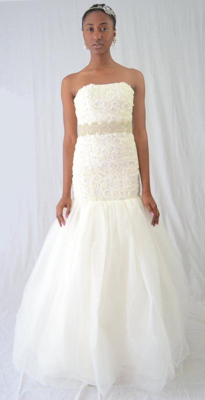 Raina  Ivory Rose textured Wedding Dress by PantoraBridal on Etsy, $1300.00