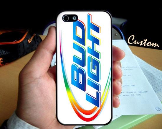 Bud Light Logo Platinum - Photo Hard Case design for iPhone 4/4s Case, iPhone 5 Case, Black or White ( Choose Option )