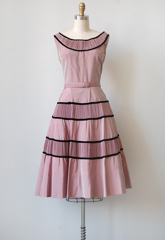 1950s Taffeta Party Dress