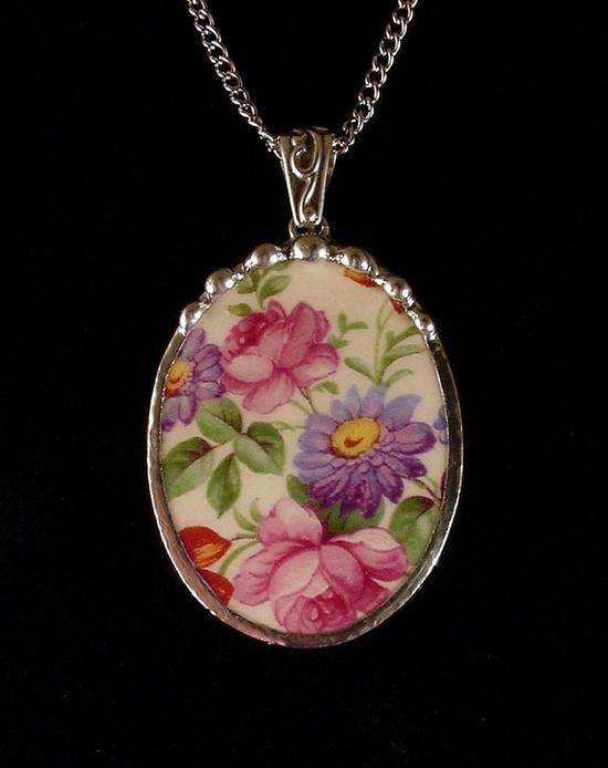 Vintage Dorset chintz pendant by Dishfunctional Designs