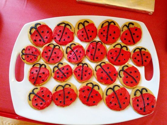 Cookies at a Ladybug Party #ladybug #partycookies